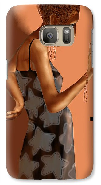 Galaxy Case featuring the digital art Woman 37 by Kerry Beverly