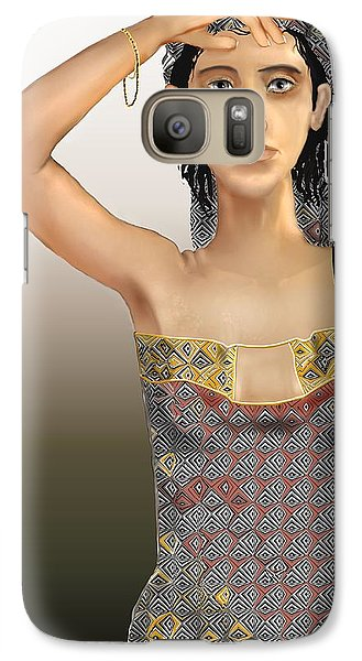Galaxy Case featuring the digital art Woman 5 by Kerry Beverly
