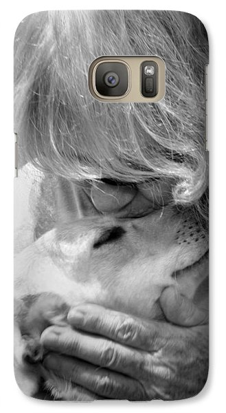 Galaxy Case featuring the photograph Woman And Dog by Kelly Hazel