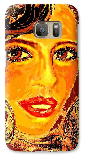 Galaxy Case featuring the digital art Woman by Desline Vitto