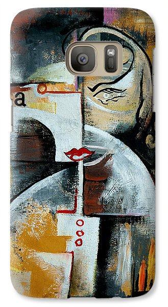 Galaxy Case featuring the painting Woman by Kim Gauge