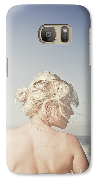 Galaxy Case featuring the photograph Woman Relaxing On The Beach by Jorgo Photography - Wall Art Gallery