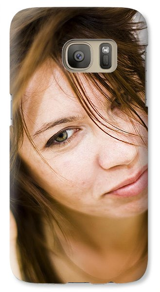 Galaxy Case featuring the photograph Woman Shaking Her Hair by Gabor Pozsgai