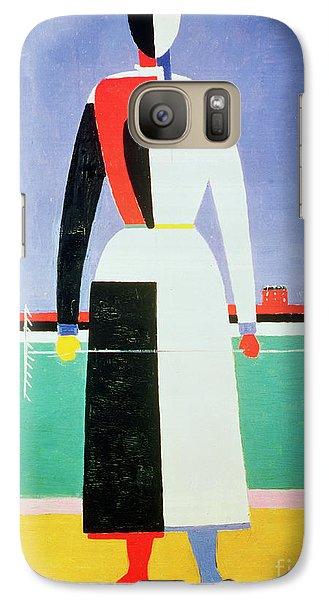 Woman With A Rake Galaxy Case by Kazimir Severinovich Malevich