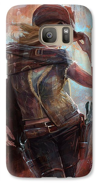 Galaxy Case featuring the digital art Woman With No Name by Steve Goad