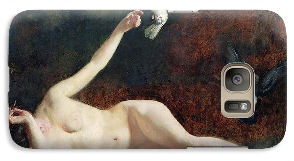 Woman With Pigeons Galaxy S7 Case by Ernst Philippe Zacharie