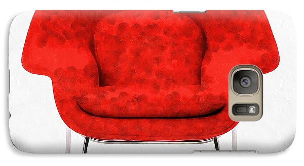 Womb Chair Mid Century Modern Galaxy S7 Case by Edward Fielding