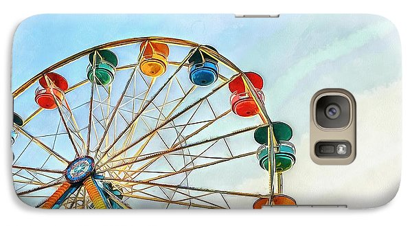 Galaxy Case featuring the painting Wonder Wheel by Edward Fielding