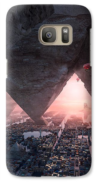 Galaxy Case featuring the digital art wonders great pyrimaid of Giza by Te Hu