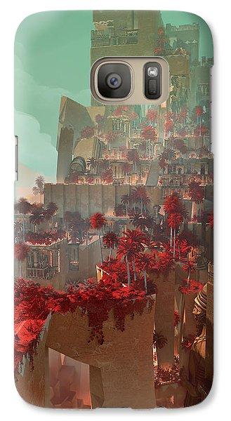 Galaxy Case featuring the digital art Wonders Hanging Garden Of Babylon by Te Hu