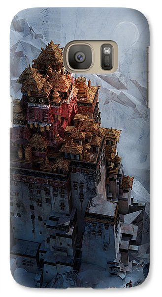 Galaxy Case featuring the digital art Wonders Holy Temple by Te Hu