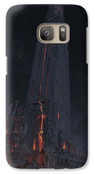 Galaxy Case featuring the digital art Wonders Lighthouse Of Alxendria by Te Hu