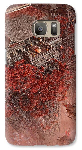 Galaxy Case featuring the digital art Wonders Liyomizu by Te Hu