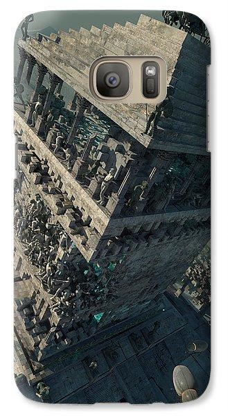 Galaxy Case featuring the digital art wonders Mausoleum at Halicarnassus by Te Hu