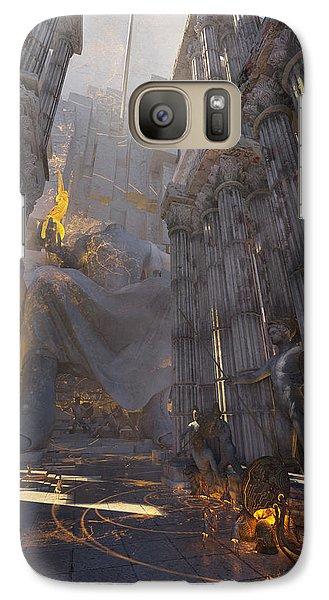 Galaxy Case featuring the digital art Wonders Temple Of Zeus by Te Hu