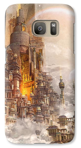 Galaxy Case featuring the digital art Wonders Tower Of Babylon by Te Hu