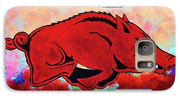 Woo Pig Sooie 3 Galaxy Case by Belinda Nagy
