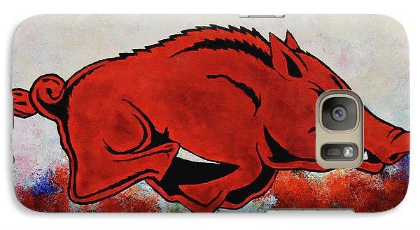 Woo Pig Sooie Galaxy Case by Belinda Nagy