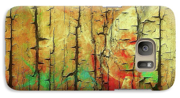 Galaxy Case featuring the digital art Wood Abstract by Deborah Benoit