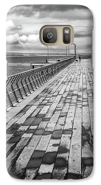 Galaxy Case featuring the photograph Wood And Pier by Perry Webster