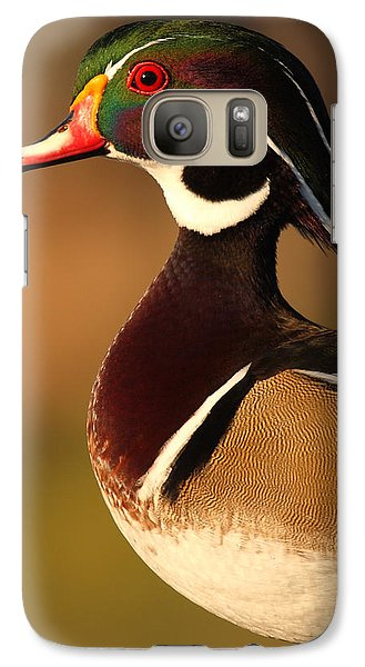 Galaxy Case featuring the photograph Wood Duck Drake Looking Into The Distance by Max Allen