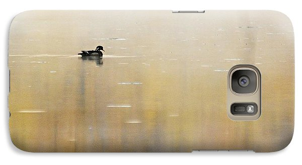 Galaxy Case featuring the photograph Wood Duck On Golden Pond by Larry Ricker