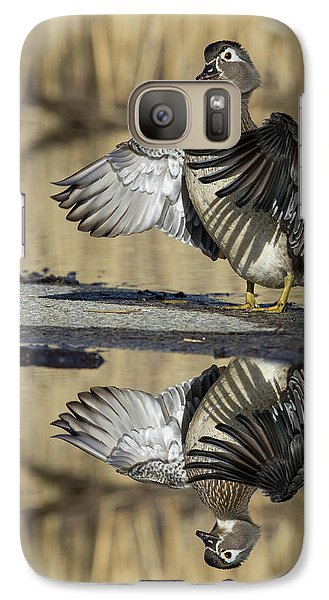 Galaxy Case featuring the photograph Wood Duck Reflection by Mircea Costina Photography