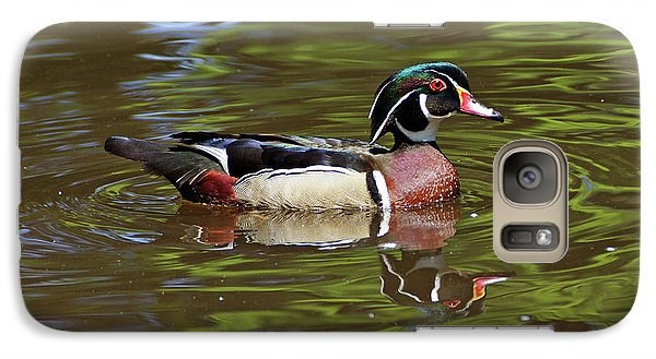 Galaxy Case featuring the photograph Wood Duck by Sandy Keeton