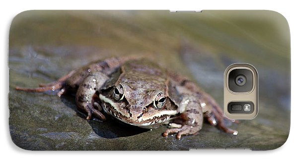 Galaxy S7 Case featuring the photograph Wood Frog Close Up by Christina Rollo