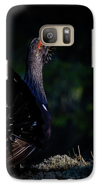 Galaxy Case featuring the photograph Wood Grouse's Sunbeam by Torbjorn Swenelius