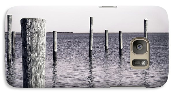 Galaxy Case featuring the photograph Wood Pilings In Monotone by Colleen Kammerer