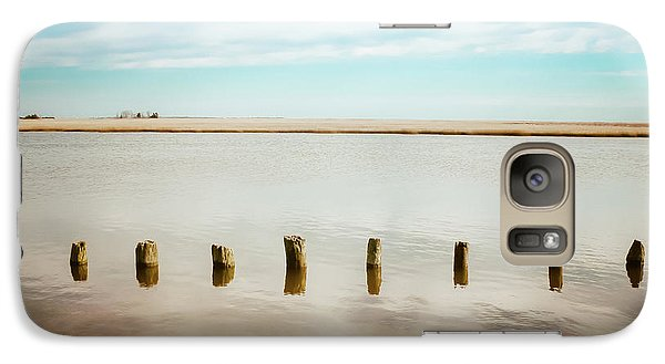 Galaxy Case featuring the photograph Wood Pilings In Shallow Waters by Colleen Kammerer