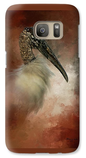 Stork Galaxy S7 Case - Wood Portrait  by Marvin Spates
