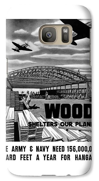 Galaxy Case featuring the painting Wood Shelters Our Planes - Ww2 by War Is Hell Store