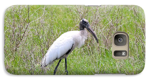Wood Stork In The Marsh Galaxy S7 Case