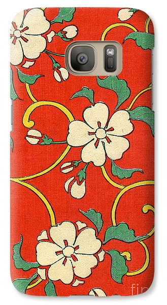 Flowers Galaxy S7 Case - Woodblock Print Of Apple Blossoms by Japanese School