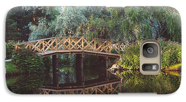 Galaxy Case featuring the photograph Wooden Bridge by Ari Salmela