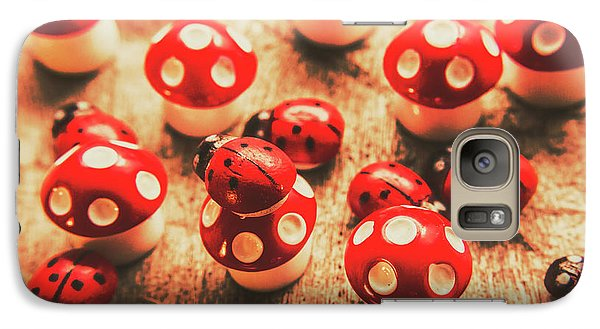 Beetle Galaxy S7 Case - Wooden Bugs And Plastic Toadstools by Jorgo Photography - Wall Art Gallery