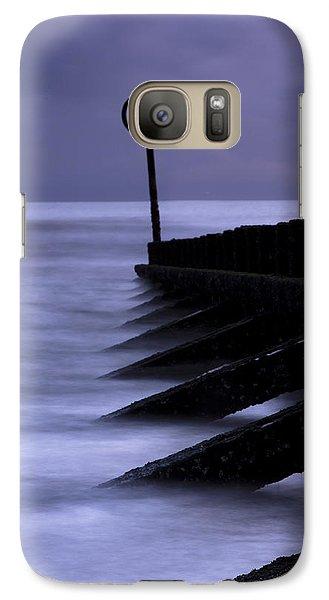 Galaxy Case featuring the photograph Wooden Groynes Of Aberdeen Scotland by Gabor Pozsgai