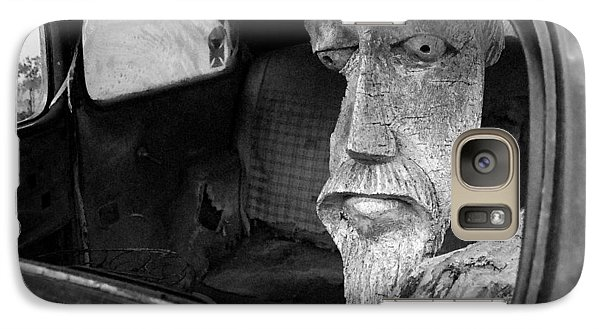 Galaxy Case featuring the photograph Wooden Head by Jim Mathis