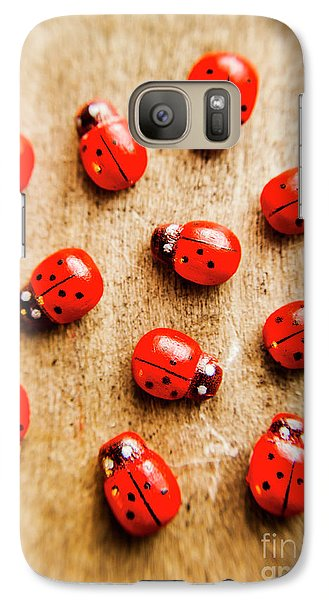 Beetle Galaxy S7 Case - Wooden Ladybugs by Jorgo Photography - Wall Art Gallery
