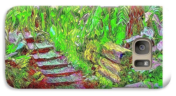 Galaxy Case featuring the digital art Wooden Steps Through The Forest - Tamalpais California by Joel Bruce Wallach