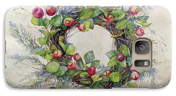 Galaxy Case featuring the digital art Woodland Berry Wreath by Colleen Taylor