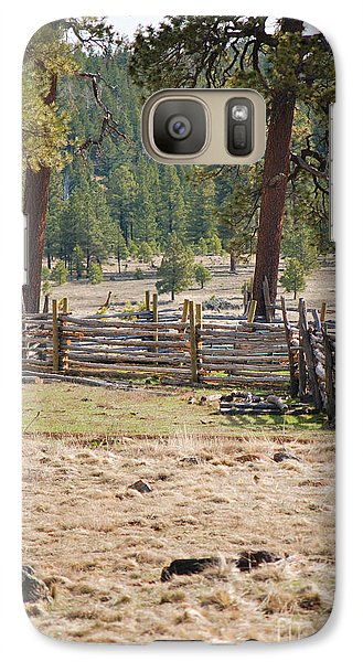 Galaxy Case featuring the photograph Woodland Corral - White Mountains Arizona by Donna Greene