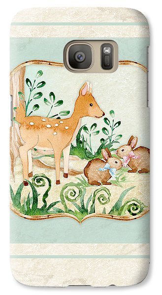 Woodland Fairy Tale - Deer Fawn Baby Bunny Rabbits In Forest Galaxy S7 Case