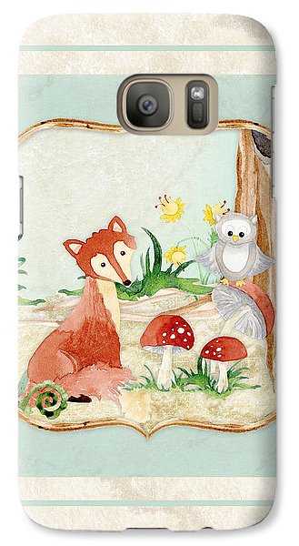 Woodland Fairy Tale - Fox Owl Mushroom Forest Galaxy Case by Audrey Jeanne Roberts