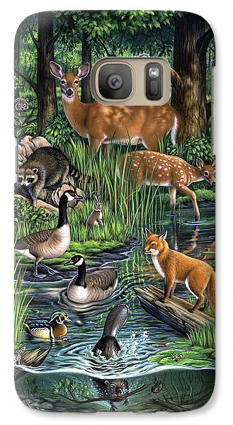 Catfish Galaxy S7 Case - Woodland by Jerry LoFaro