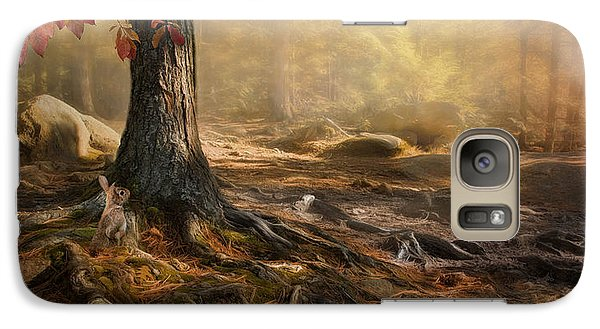 Galaxy Case featuring the photograph Woodland Mist by Robin-Lee Vieira