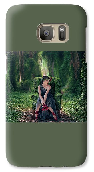 Galaxy Case featuring the photograph Woodland Nymph by Debby Herold