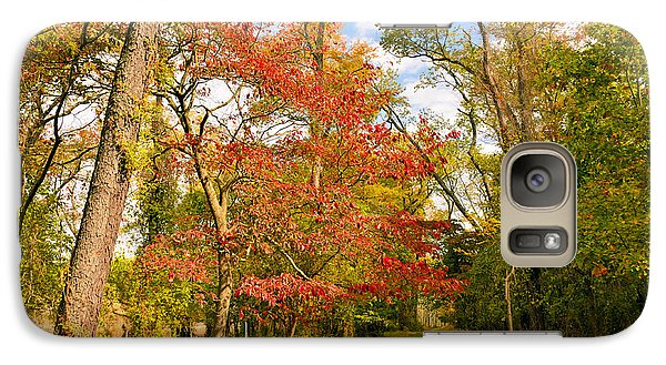 Galaxy Case featuring the photograph Woodland Path In Autumn  by A Gurmankin